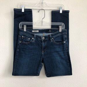 AG the stilt cigarette leg denim jeans size 28